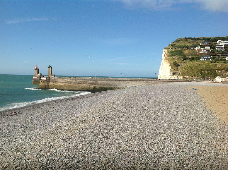 Hafeneinfahrt von Fécamp / Normandie bei den Sch'tis (09.08.2013)