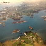 Luftbild von der Flussmuendung mit Hafen (30.08.13)