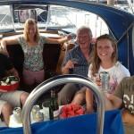 Grillen an Bord (Ria de Muros) Nils, Jessi, Josef, Elli, Ben (29.09.13)
