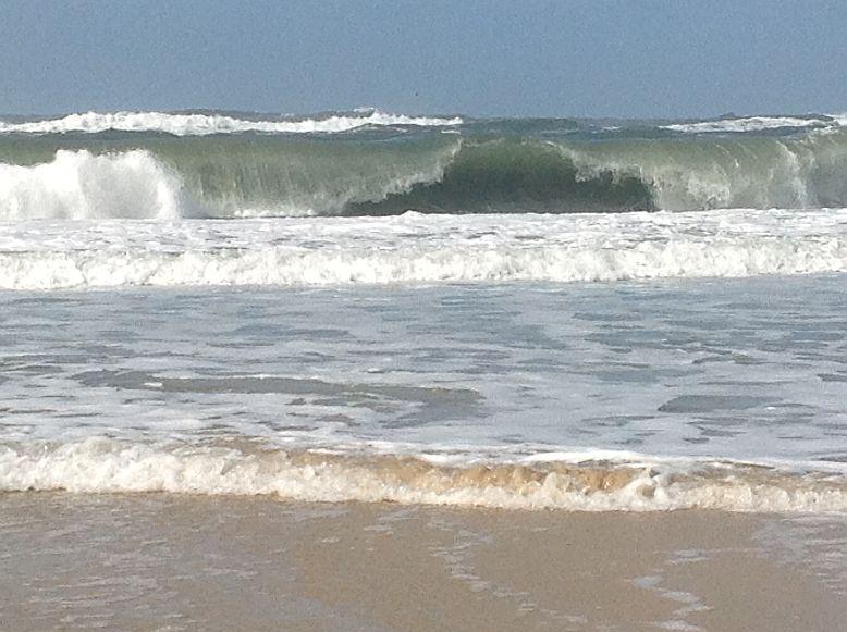 Brandung am Strand von Figueira da Foz (24.10.2013)