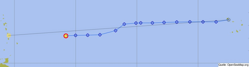 30.01.2016 / 16:12h UTC / N14.35 W51.59 / etmal 117sm