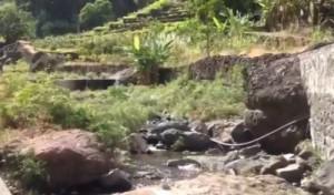 Viedo Wasser in den Bergen