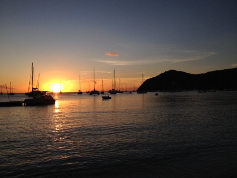 Sonnenuntergang in der Grand Anse D'Arlet