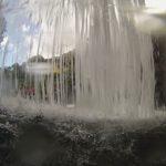 Wasserfall von innen