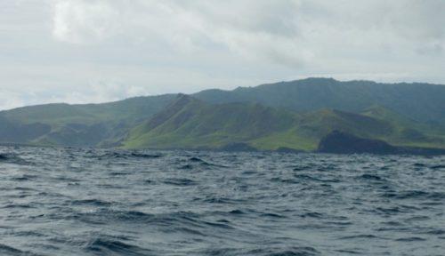 Ua Huka liegt voraus auf dem Weg nach Nuku Hiva
