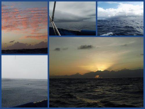 Himmel über dem Pazifik