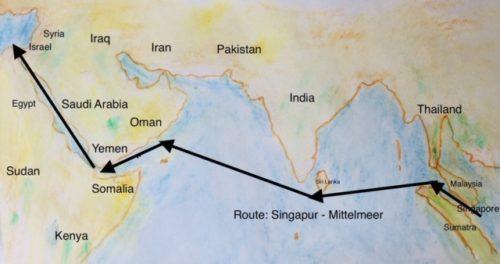 Route ins Mittelmeer