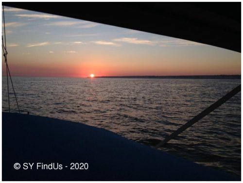 Sonnenuntergang vor Frankreichs Nordküste